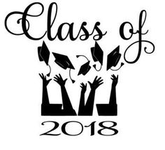 Class of 2018 Hats tossed Decal