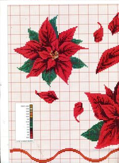 Gallery.ru / Фото #155 - Las ideas de Susanna №195 2005 - Chispitas Cross Stitch Charts, Cross Stitch Designs, Cross Stitch Patterns, Christmas Cross, Christmas Time, Cross Stitch Flowers, Cross Stitching, Sewing Crafts, Embroidery