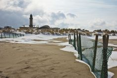 Day Trip from Berlin to Rostock and the Baltic Sea. Snow on the beach!