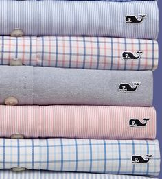 I love oxford shirts.. love all these colors. makes me smile..
