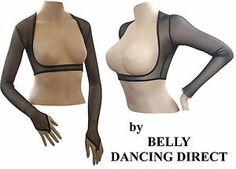 BellyDance Ballroom Bolero Shrug Red Black Stretch Mesh Lace Glitter Finger Loop   eBay