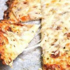 "Oh yum-Cheesy Cauliflower ""bread""! Healthy Gluten Free Recipes, Low Carb Recipes, Healthy Snacks, Cooking Recipes, Healthy Eating, Ww Recipes, Recipies, Healthy Pizza, Diabetic Recipes"