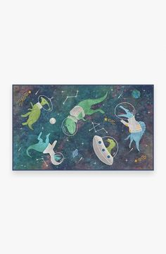 Boy Room, Kids Room, Galaxy Nursery, Dinosaur Bedroom, Machine Washable Rugs, Space Theme, Room Rugs, Colorful Rugs, Astronaut