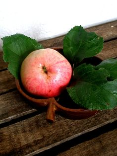 Dark Brown Wooden Apple Bowl by sonjasusanna on Etsy, $22.00