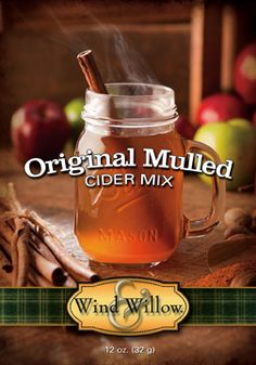 A Wind & Willow best seller!  Nothing says fall is here like the scent of Hot Spiced Cider wafting from the kitchen.  Just add apple juice or cider and heat!