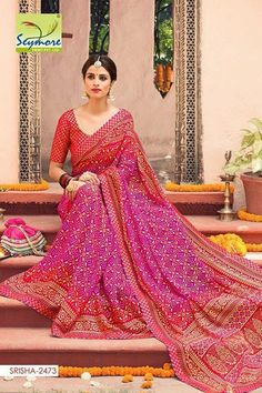 SBTrendZ SSYMRE SAREES 1500 FOR EACH SINGLES.  FABRIC: BRASSO MATERIAL WITH BANDHNI PRINT BOOK NOW..LIMITED STOCK ..  For more details and to order mail us on sbtrendz@gmail.com or Whatsapp 91 9495188412; Visit us on http://ift.tt/1pWe0HD or http://ift.tt/1NbeyrT to see more ethnic collections.   #Jacket #Lehenga #Gown #Kurti #SalwarSuit #Saree #ChiffonSaree #salwarkameez #GeorgetteSuit #designergown #CottonSuit #AnarkalaiSuit #BollywoodReplica #HandloomSaree #designersarees #DressMaterials…
