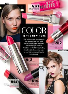 Color is the new nude makeup magazine, beauty magazine, editorial layout, editorial design Makeup Magazine, Beauty Magazine, Editorial Layout, Editorial Design, Mise En Page Magazine, Magazine Layout Design, Cosmetic Design, Beauty Ad, Catalog Design