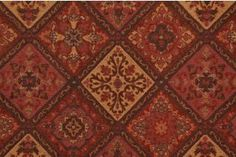 M7151-5355 Ethnic Tapestry Upholstery Fabric in Tobacco $28.95 per yard