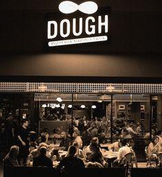 Dough Pizzeria Napoletana, San Antonio TX.  Featured on Diners, Drive-Ins & Dives for Pizza Napoletana; Pork Love Pizza; Pizza with Prosciutto, Onions and Olives; Rollatini (Black Truffle, Proscuitto, Mozzerella and Arugula Antipasto Rolls)