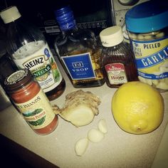 NATURAL ANTIBIOTIC: Just fill up a small pot of water and heat it up around hi. juice 4 bulbs of garlic and 1 big chunk of fresh ginger make sure to peel the 2 lemons before you do juice them. Add 1 teaspoon of cayenne pepper, half a cup of Brandy, 2 tablespoons of apple cider vinegar and to tablespoons of honey. Just makes it all together in let it stew for a little while and then pour a glass after it cools off a little bit!