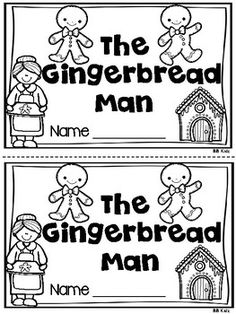 The gingerbread man emergent reader is part of my December Emergent reader unit. This is also sold separately. This booklet has 2 levels. It also has a writing page. See example page. By BB Kidz (Beth Boyes)