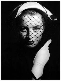 Capucine in hat by Jean Barthet,  Arachnée, April, 1952 -  Photo by Georges Dambier,