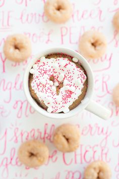 Whipped cream + pink sprinkles + donuts = perfection.