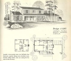 Vintage Farmhouse Plans vintage house plans: multi level homes part 3 | architecture