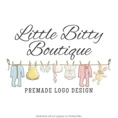 #Baby #Clothesline #Logo #Design by @CyanSkyDesign on #Etsy - #SmallBusiness #Branding #Marketing #Watermark #Watermarking #Custom #Business #Graphics #Nursery #Clothing #Clothes #Sewing #Boutique #Children #Kids