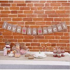Girlande LOVE IS SWEET Hochzeit Candybar