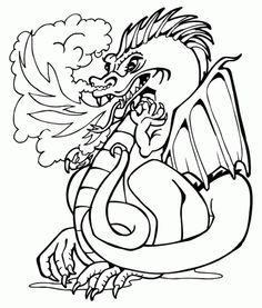 dragon coloring worksheet the coloring pages pinterest
