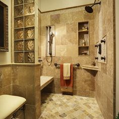 Universal Design Shower Design Ideas, Pictures, Remodel, and Decor