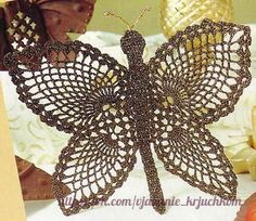 Delicadezas en crochet Gabriela: Mariposa en ganchillo