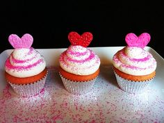 Strawberry Valentine's Day Cupcakes