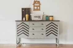Miss Mustard Seed Milk Paint Trophy Industrial Sideboard   Colour Saturated Life