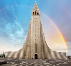 1. The Lutheran Hallgrímskirkja in Reykjavík is the largest church in Iceland. The design — by state architect Guðjón Samúelsson — represents the flowing lava of Iceland's active volcanoes.