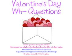 Valentine's WH Questions - includes How!