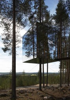 """A must visit Hotel. """"Tree Hotel"""" Listen Up: http://boom973.com follow for more twitter.com/boom973/ #boom973 (courtesy of ArchDaily)"""