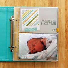 Gorgeous Baby 1st Year Book using SN@P album and products