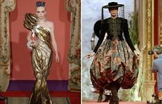 Christian Lacroix's Spring-Summer 2009 Haute Couture fashion collection in Paris and a styled Spanish ensemble by Christian Lacroix at his 1987/88 Fall/Winter haute-couture collection also in Paris