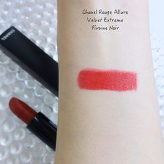 Chanel Rouge Allure Extreme Pivoine Noir (from the NEW Chanel Spring Summer collection 2021) swatch