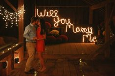 This barn proposal is totally magical! Perfect for a girl who loves rustic romance.