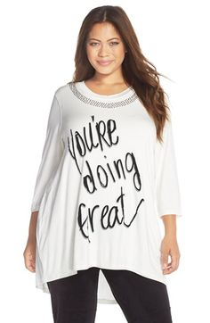 MELISSA MCCARTHY SEVEN7 Embellished Graphic Tee (Plus Size) available at #Nordstrom