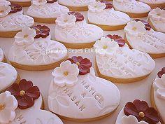 Wedding Cupcakes Fondant, Fondant Cookies, Galletas Cookies, Wedding Cookies, Sugar Cookies, Cupcake Cakes, Cake Decorating Piping, Cookie Decorating, Cakepops
