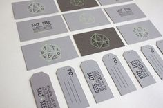 Typography  Salt  Seed | business cards  tags