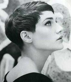 Very Short Haircuted Dark Hair for Women