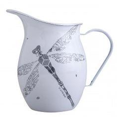 Enamel water jug Shades and Map motif