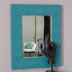 Arabesque Trapunto Wall Mirror