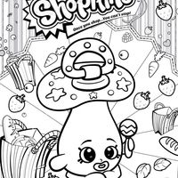 Desenho de Shopkins chupeta para colorir