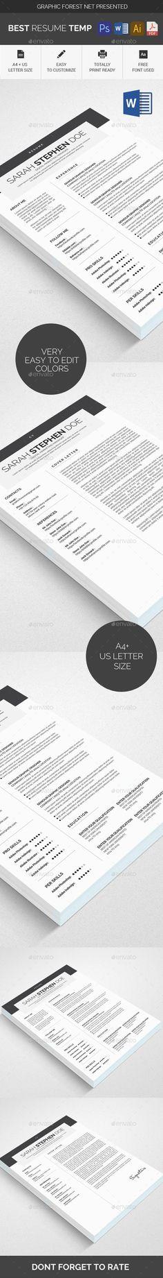 Resume Word - Resumes Stationery Resume Templates Pinterest