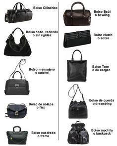 tipos de bolsos via @MisakoColombia