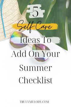 Don't let Self-Care be the last thing on your to-do list this Summer. These simple self-care routines will have you feeling good all Summer long. #Selfcare #Selflove #SummerSelfCare #LoveLife #PersonalDevelopment  #SelfImprovement #SelfGrowth  #Personal Growth #Love #Self Love #Confidence #Happiness Summer Checklist, Self Care Routine, How To Relieve Stress, Self Improvement, Love Life, Personal Development, Self Love, Feel Good, Confidence