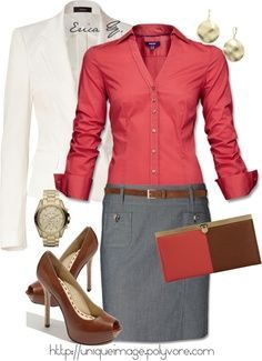 I love how this whole outfit comes together for a sophisticated and modern business casual look. Also, I really love the french cuffs on the blouse!