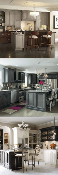 Turn a classic look into a style of your own. MasterBrand Cabinets offers a variety of gray finishes to define your personal design. See 10 kitchens from The Spruce to begin your inspiration process. Gray Kitchens, Kitchen Ideas, Kitchen Decor, House Remodeling, Color Inspiration, Kitchen Cabinets, Decorating, Grey, Classic