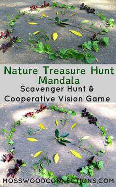 Nature Treasure Hunt Mandala Scavenger Hunt & Cooperative Vision Game