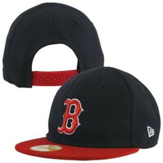 85f51a941d3  19.95. Flat bill. Adjustable plastic snap strap. Quality embroidery.  Unstructured. New Era 9FIFTY hat. New Era Boston Red Sox Infant My ...