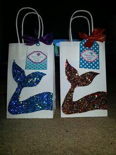 Mermaid Party Favor Gift Bag, custom mermaid desgin gift bag ...