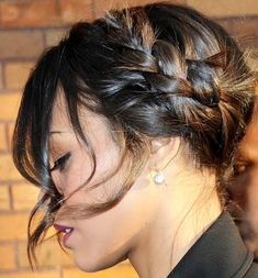 Trendy Braided Hairstyle with Bangs