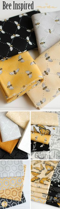 Bee Inspired is a beautiful nature inspired collection by Deb Strain for Moda Fabrics available at Shabby Fabrics!