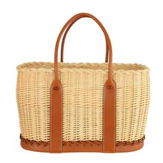 LOVE! HERMES LIMITED EDITION GARDEN PARTY TOTE WITH BARENIA LEATHER Hermes GARDEN OCIER PICNIC TOTE